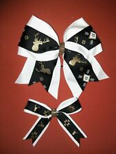 """My DOLL AND Me Matching Aztec Deer hair bows 18"""" doll, Birthday, Everday"""