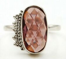 4CT Amethyst 925 Solid Genuine Sterling Silver Ring Jewelry Sz 9 K4-1