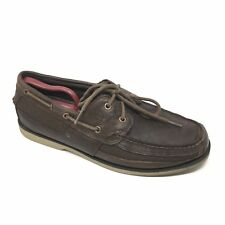 Men's Timberland Kiawah Bay Boat Shoes Sneakers Size 10.5M Brown Leather Moc AA5
