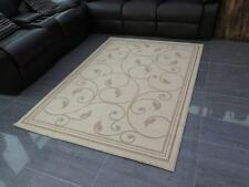 Floral Patterned Rug-Beige & Cream 140x200cm-(Chequers/BG302-4621-69)