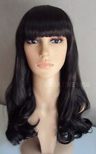Popular Long Black Katy Perry Curly Hair Wig FREE SHIPPING (G8010 2)