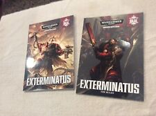 WAR HAMMERS 40K EXTERMINATUS CAMPAIGN SUPPLEMENT WITH RULE BOOK 2 BOOKS S/B