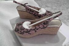 NIB AUTHENTIC JIMMY CHOO WOMEN WEDGES SHOES SIZE 37.5 GS 6.5 US