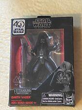 New Star Wars Black Series Titanium Darth Vader Figure 40th Anniversary #01
