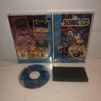 Sonic CD Sega CD SCD, COMPLETE Tested & Working! Fun Hedgehog CIB HTF