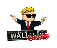 Wall Street Bets DieCut Sticker Decal Made In USA  5 pack