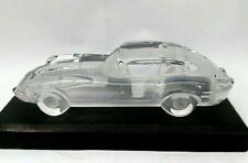 VINTAGE HOFBAUER CLEAR 1950 JAGUAR E COLLECTIBLE LEAD CRYSTAL AUTOMOBILE CAR