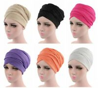 Women Hat Muslim Stretch Turban Caps Chemo Hair Loss Head Scarf Wrap Hijab Cover
