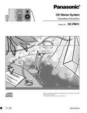 Panasonic SA-PM11 CD Stereo System Owners Instruction Manual