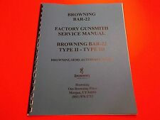 DETAILED GUNSMITH MANUAL BROWNING BAR-22 SEMI-AUTO RIFLE, for Cleaning & Repair