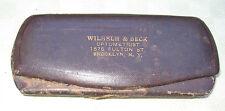 Eyeglass Case Advertising Clamshell Steel Metal Wilhelm & Beck Antique Old
