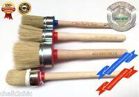 #MIX1 - PAINTED SHABBY CHIC / CHALK bsd PAINT ART RESTORATION SET OF 4 brushes