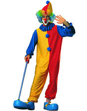 Adult Unisex Circus Clown Costume Jumpsuit With Collar And Hat