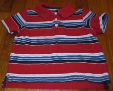 Toddler Boys On Old Navy Striped S/S Pullover Cotton Collar Top Shirt~Size 3T~Ec