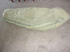 vtg green Us Military down mummy sleeping bag M-1949
