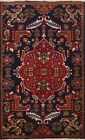 Vintage Geometric Hand-knotted Tribal Area Rug NAVY BLUE Oriental 3x5 Carpet