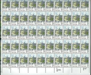 New York Statehood Sheet of Fifty 25 Cent Postage Stamps Scott 2346