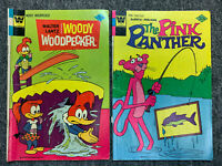 ~Lot of 2 Whitman Comic Books Collection -Woody Woodpecker 138 & Pink Panther 42