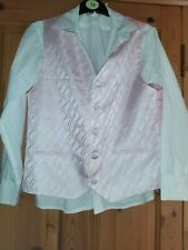 Boys size 13 White shirt And Pink Waistcoat For Wedding Holy Communion Outfit...