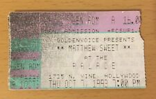 1993 MATTHEW SWEET HOLLYWOOD CONCERT TICKET STUB GIRLFRIEND ALTERED BEAST
