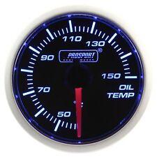 PROSPORT 52mm Blue & White Led Smoke Face Oil Temperature Gauge Celsius