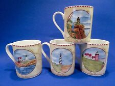 American Atelier Signals Porcelain Lighthouse MUGS 4 Different Lighthouses