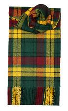 Lochcarron de Escocia 100% Lambswool Macmillan Antiguo Moderno Tartan Bufanda Nueva