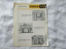 1956 Caterpillar 46 44 41 50 48 hydraulic controls brochure for D2 D4 D7 tractor
