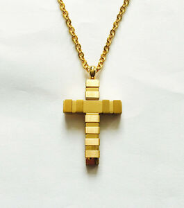 Nuovo Cristiano Acciaio Inox Religioni Croce Gesù Cristo Collana Catena onek15