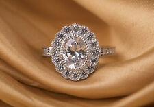 Round Cut Cubic Zirconia,Fine Jewelry Silver Wedding Ring With Studded White