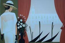 Serge VERGEZ : Elégante à Venise - LITHOGRAPHIE Originale 250ex #VENISE