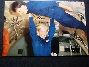 ROBERT GIBSON & RHEA SEDDON Hand Signed Autograph 4X6 Photo - MARRIED ASTRONAUTS