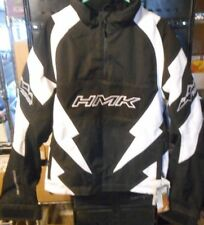 HMK MENS THROTTLE PULLOVER SNOWMOBILE JACKET BLACK/WHITE SIZE XS unsealed