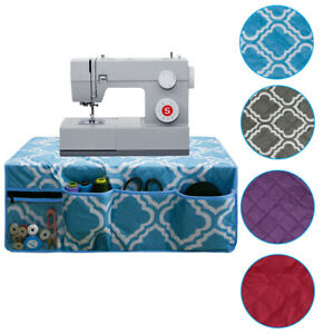 Waterproof Multi Pocket Household Sewing Machine Cover Mat with Side Storage Bag
