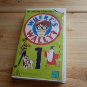 THE AMAZING ADVENTURES OF WHERES WHERE'S WALLY? Volume 1 VHS TV TAPE RARE