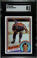 1984 85 Topps Hockey #51 Wayne Gretzky SGC 8 NM-MT Oilers HOF