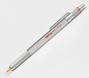 Rotring 800 Silver & Gold 0.7mm Pencil Retractable Tip New In Box 1904448