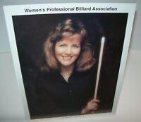 Shari Stauch Women's Professional Billiard Signed Autograph Photo Pool Vintage