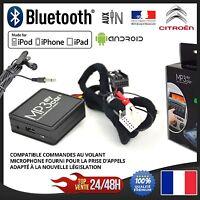 Boitier Bluetooth MP3 AUX + Micro pour CITROEN C3 C4 C5 C6 Picasso DS3 RD4 RT4