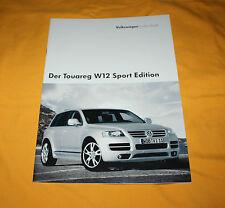 VW Touareg W12 Sport Edition 2005 Prospekt Brochure Depliant Prospetto Catalog