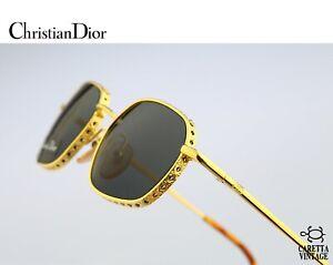 Christian Dior Barbara 43Q, 80s Vintage gold hexagon sunglasses - NOS