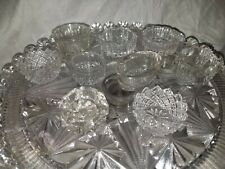 New listing Lot of 12 Vintage Clear Glass Open Salt Cellars Dips