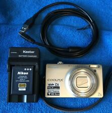 Nikon COOLPIX S6000 14.2MP Digital Camera - Champagne Silver~~NICE~~