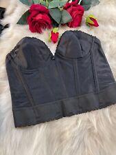 JC penney adonna black strapless Corset bustier size  Us36a  Eu80a It4a