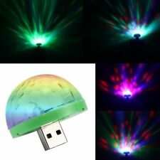 Sound Active RGB LED Stage Light Crystal Ball Disco Xmas Club DJ Party USB MINI