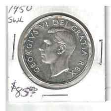 1950 Canada 1 dollar .800 silver SWL
