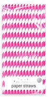 Novelty Paper Straws(20cm), Bright Paper Design & Biodegradable - Pack of 40