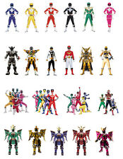 Power Rangers comestibles Stand Up Cake toppers decorations Tarjeta de Oblea de primera calidad