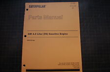 Caterpillar Forklift 4.3 LITER Diesel Engine Parts Manual book catalog 1998 shop