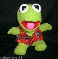 VINTAGE BABY KERMIT FROG 1987 JIM HENSON MCDONALDS STUFFED ANIMAL PLUSH MUPPETS